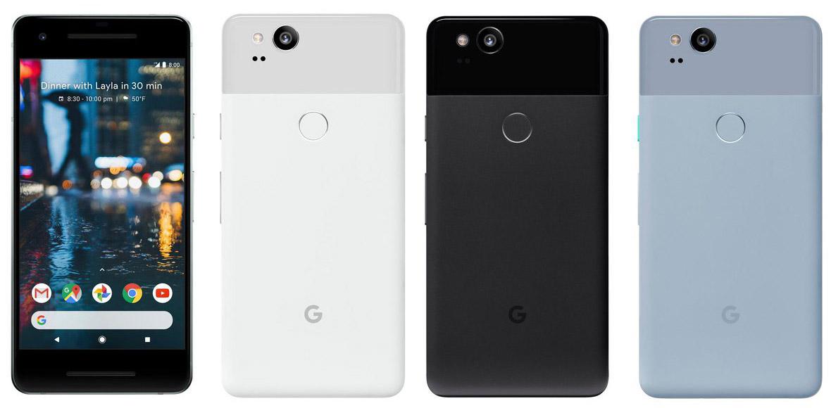 Внешний вид Google Pixel 2