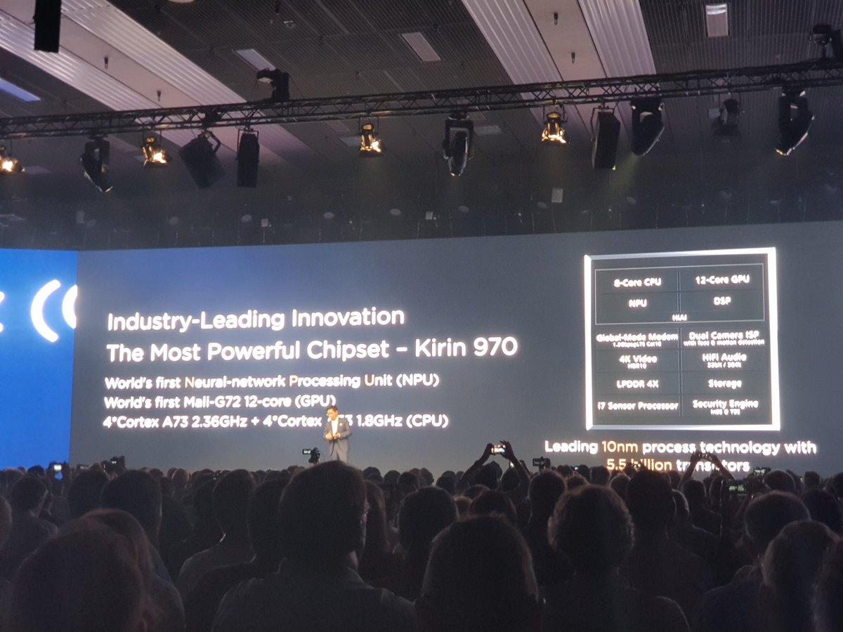 Основные инновации крутятся вокруг NPU — специального процессора внутри Kirin 970, который отвечает только за вычисления, связанные с искусственным интеллектом