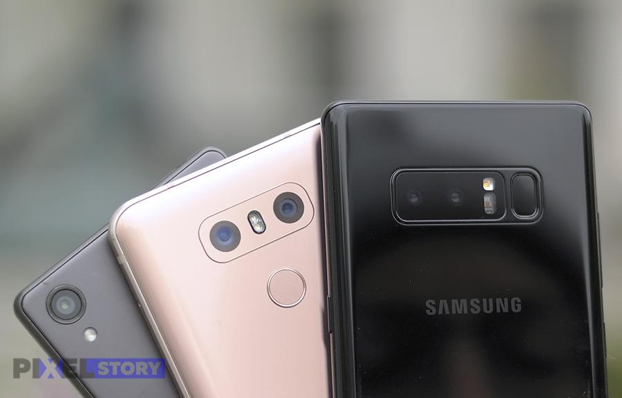 Сравнение камер Galaxy Note 8, Xperia X и LG G6