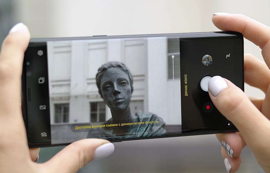 Обзор камеры Samsung Galaxy Note 8 - динамический фокус