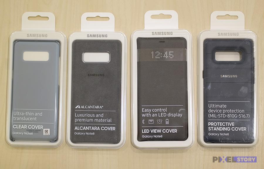 Обзор оригинальных чехлов для Samsung Galaxy Note 8