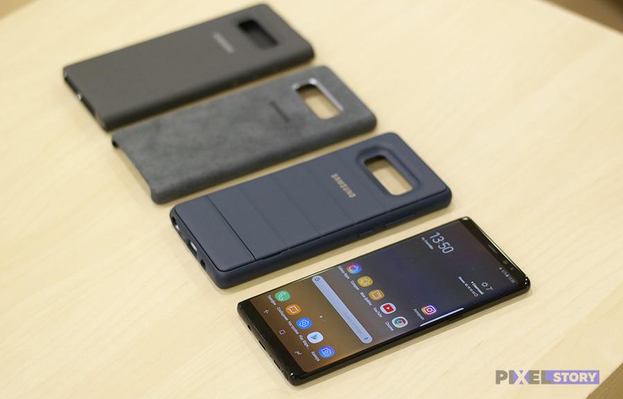 Обзор фирменных чехлов для Samsung Galaxy Note 8