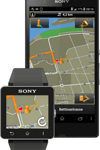 Garmin Xperia Edition - навигация с поддержкой часов Smartwatch 2