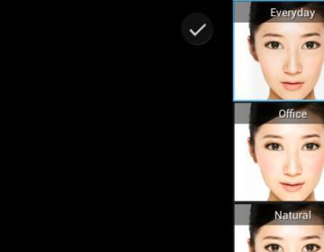 приложение для камеры смартфонов Xperia Portrait retouch