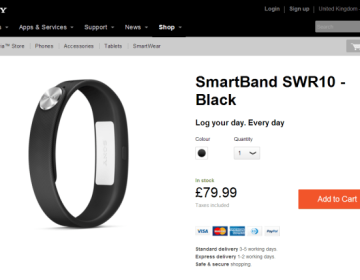 Начало официальных продаж в Европе умного браслета Smartband SWR10