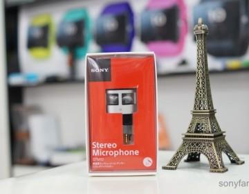 Распаковка и живые снимки стерео микрофона Sony STM10