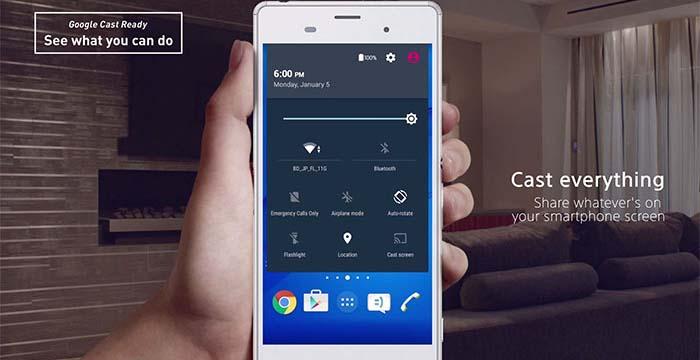 Первая утечка Android Lollipop на Xperia Z3