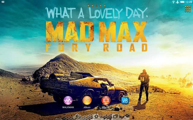 Sony выпустили Xperia тему посвященную фильму Безумный Макс