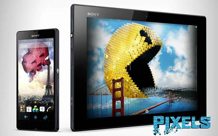 Новая PIXELS Xperia Theme - специально к запуску фильма Pixels