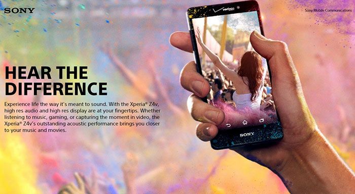 Новый операторский смартфон Sony Xperia Z4v