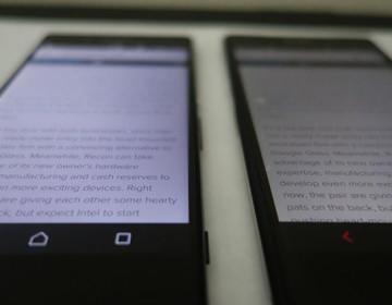 Сравнение экранов Xperia Z3+ и Xperia Z2