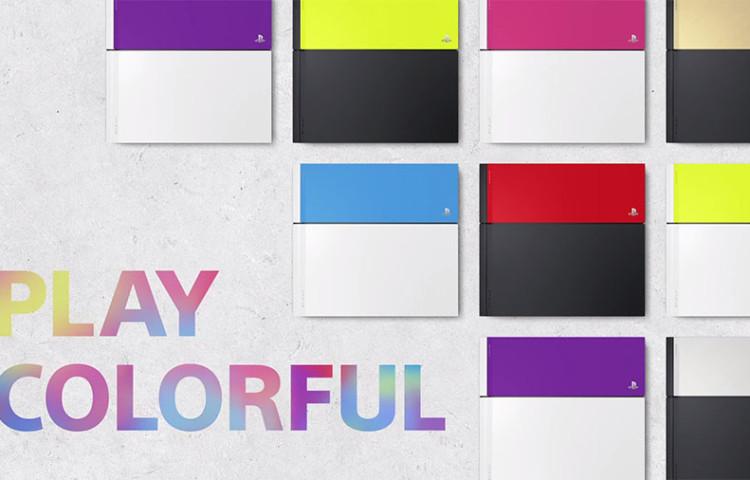 цветные сменные панели PS4