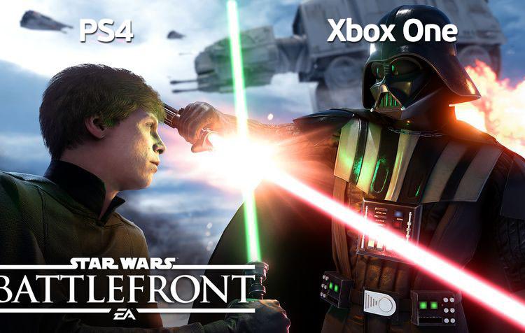 любители Star Wars играют на PS4