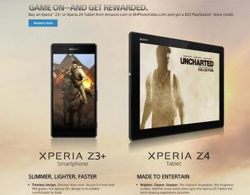 Скидка для покупателей Xperia Z3+ и Xperia Z4 Tablet