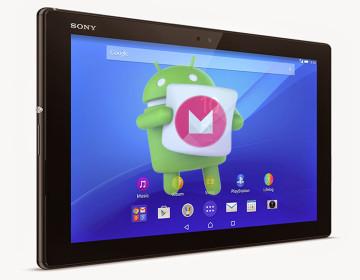 Обновление Marshmallow для Xperia Z4 Tablet