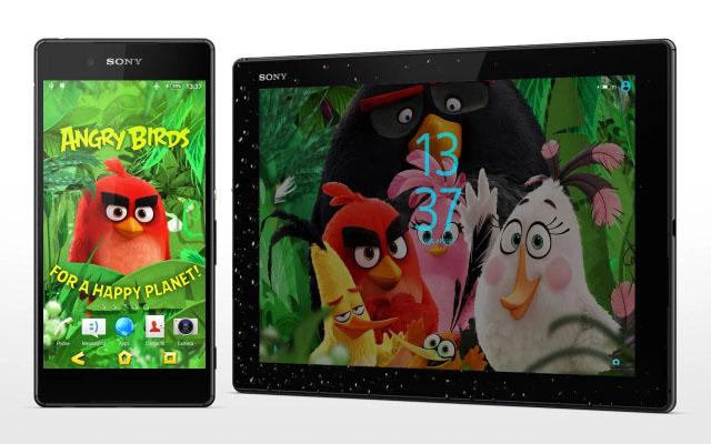 скачать Xperia тему про Angry Birds