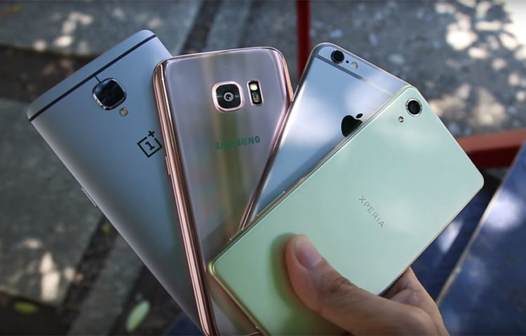 сравнение камер Xperia X и Galaxy S7, One Plus 3, iPhone 6s
