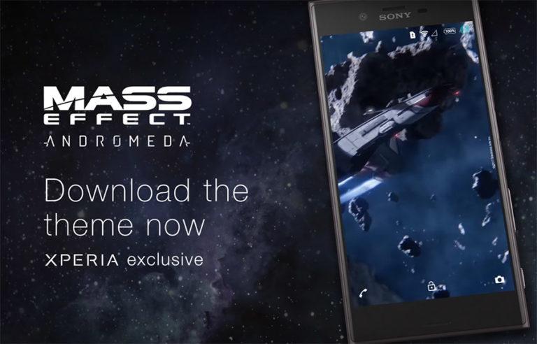 Скачать Xperia тему Mass Effect Andromeda