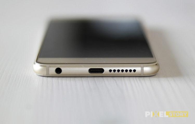 Обзор Huawei Honor 8 - дизайн задней стороны - USB Type-C
