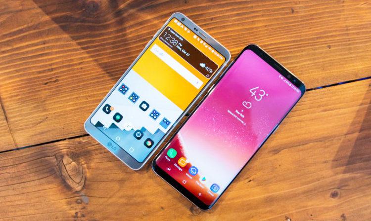 сравнение LG G6 и Samsung Galaxy S8