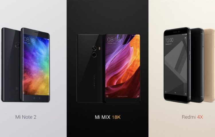 Xiaomi Mi Mix, Mi Note 2, Redmi 4x в России