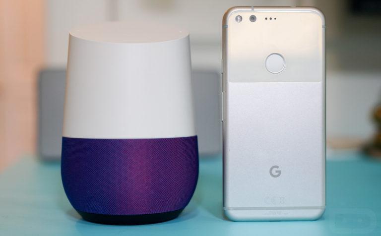 Бесплатная Google Home за покупку Pixel XL