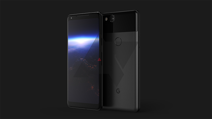 рендеры Google Pixel XL 2