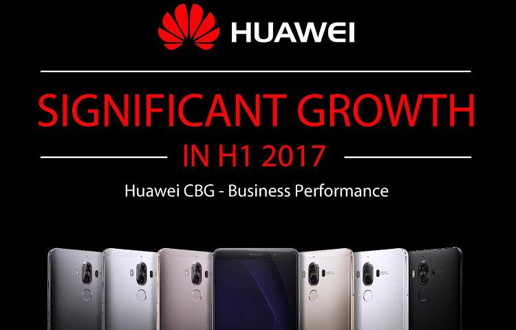результаты работы Huawei за первое полугодие 2017 года