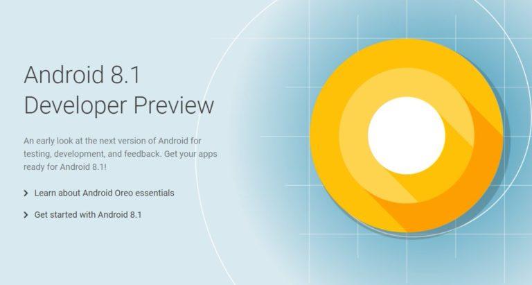 Android 8.1 Oreo Developer Preview доступен для Pixel и Nexus