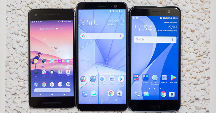 Pixel 2, HTC U11 Plus, HTC U11