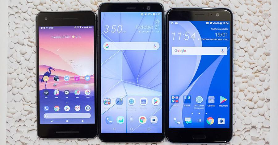 Pixel 2, HTC U11 Plus, HTC U11