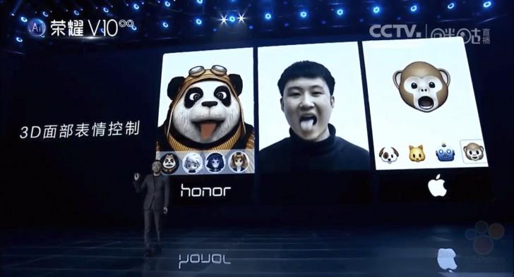 Также инженеры Huawei смогли реализовать аналог Animoji.