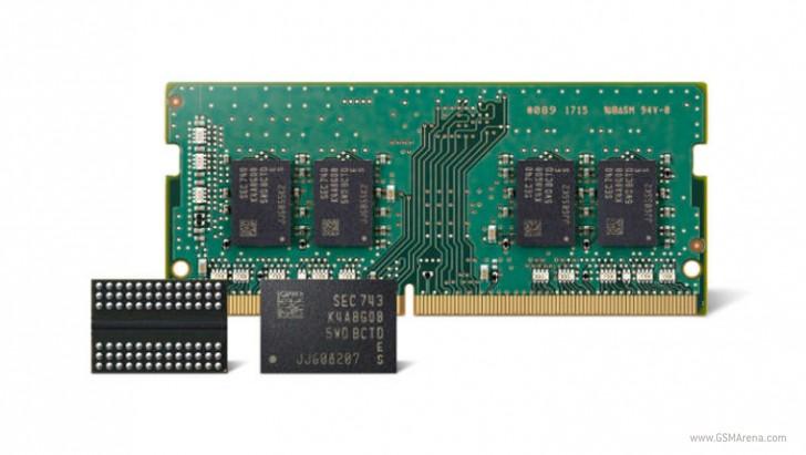 Samsung начинает производство 10-нм RAM памяти второго поколения