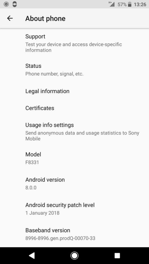 Xperia XZ, XZs и X Performance получили патчи безопасности за январь 2018 года