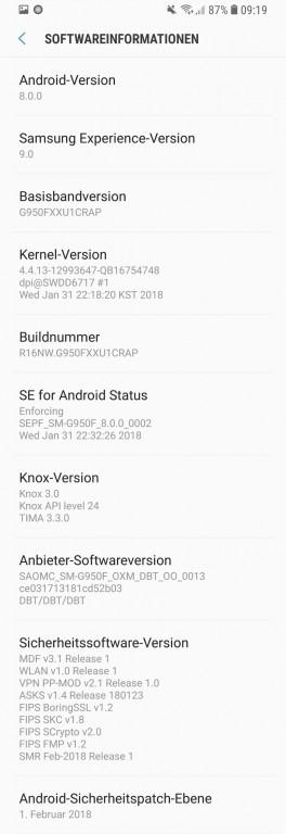 Samsung запускает обновление Android 8.0 Oreo для Galaxy S8