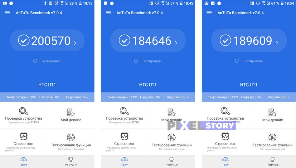 HTC U11 - Производительность и время работы