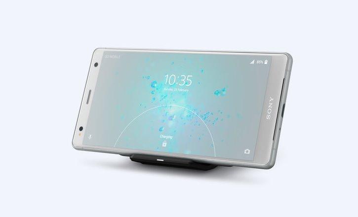 Беспроводная зарядка в Sony Xperia XZ2