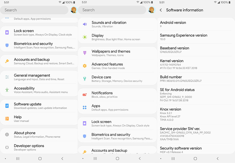 Слитые скриншоты Samsung Experience UI 10