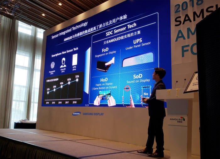 Samsung готовит безрамочный дисплей без выреза на экране