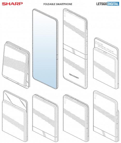 Появились изображения складного смартфона от Sharp
