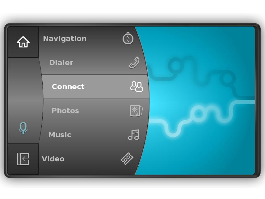 MeeGo IVI UX — вариант интерфейса для информационно-развлекательных систем в версии MeeGo 1.1