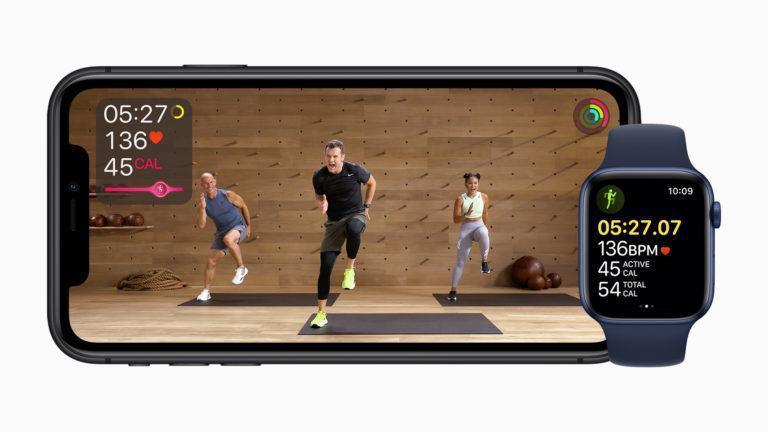 Пример тренировки в Apple Fitness+